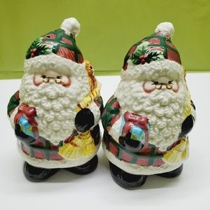 Jolly Santa Christmas S & P Shakers